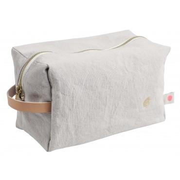 Trousse de toilette cube - Fleur de sel (GM)