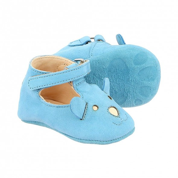 Chaussons Loulou Ted - Ciel