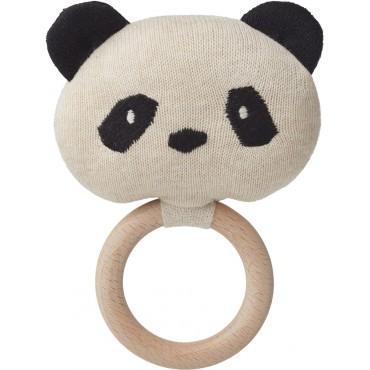Hochet Aria - Panda (beige)