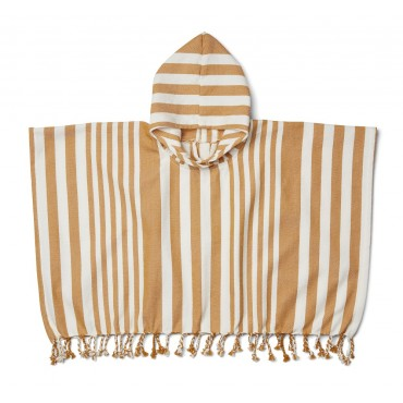 Poncho de plage Roomie - Rayures moutarde