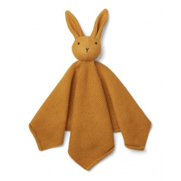 Doudou tricoté Milo - Rabbit / Moutarde