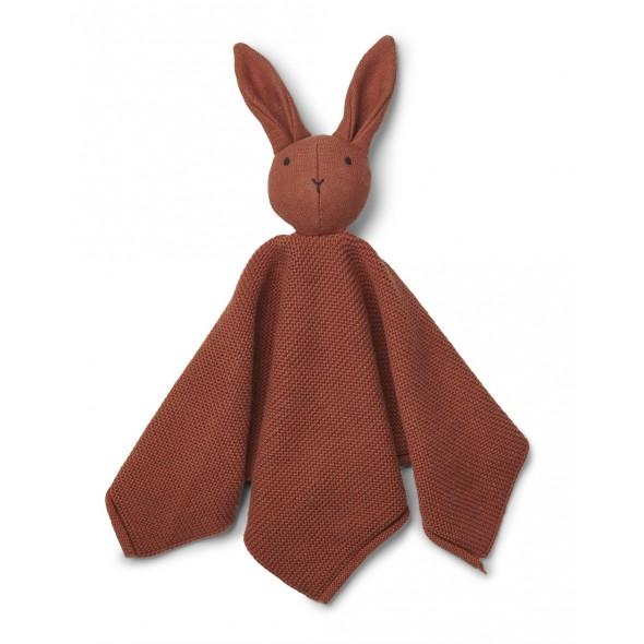 Doudou tricoté Milo - Rabbit / Rusty