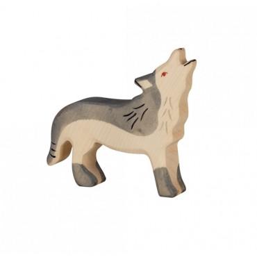Animal en bois - Loup hurlant