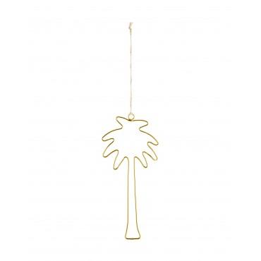 Palmier à suspendre - Or (23 cm)