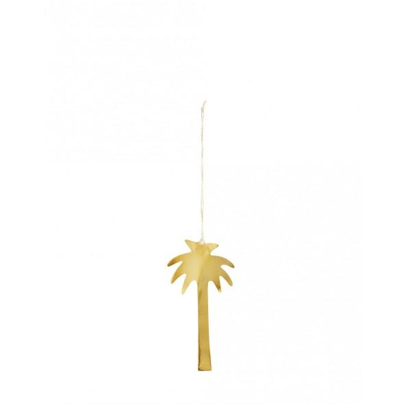 Palmier à suspendre - Or (15.5 cm)