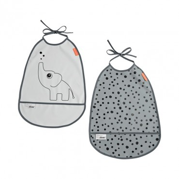 Lot de 2 bavoirs Elphee - Grey