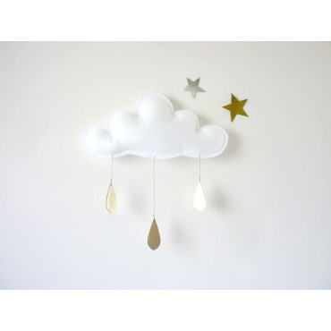 Mobile Nuage Spring - White
