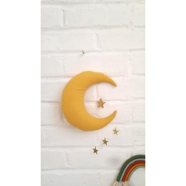 Mobile Lune et étoiles - Moutarde