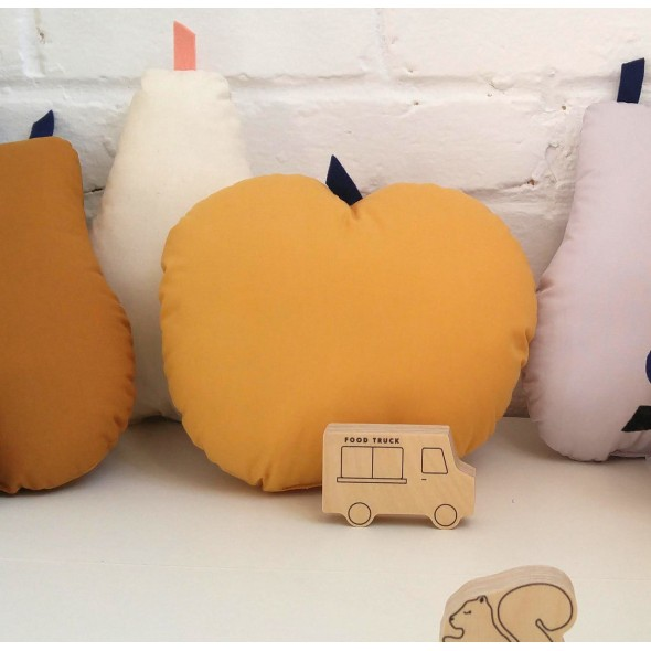Coussin Pomme - Moutarde