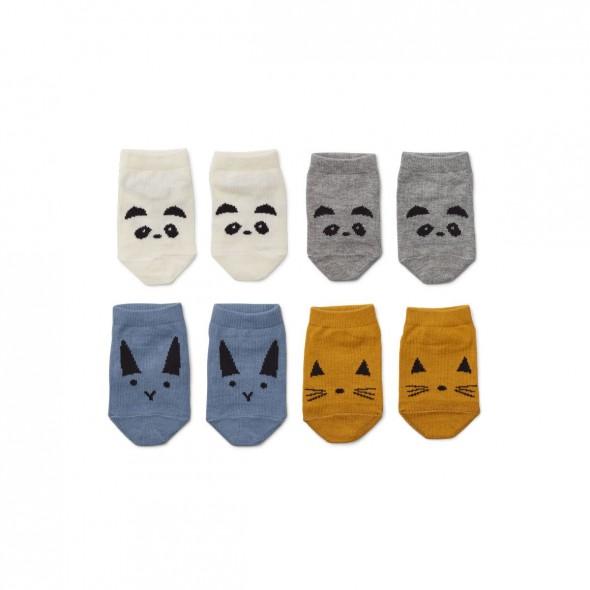 Set de 4 paires de chaussettes Fanny - Blue mix
