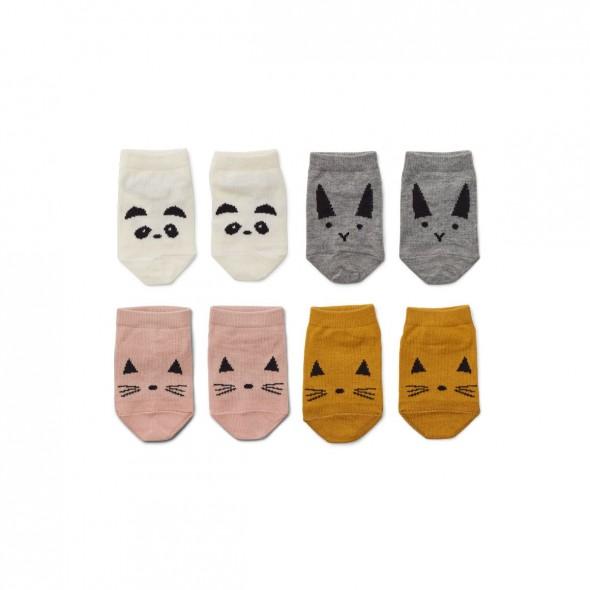Set de 4 paires de chaussettes Fanny - Rose mix