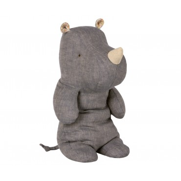 Doudou Rhino - Blue (Medium)