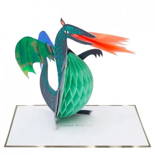 Carte anniversaire - Dragon
