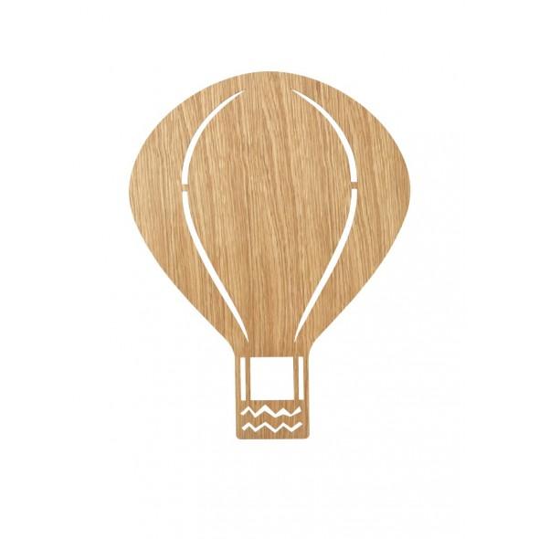 Lampe applique Montgolfière - Chêne clair