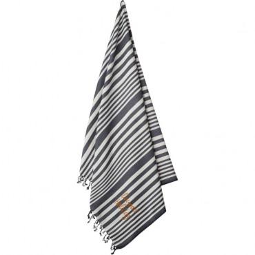 Serviette de bain Monroe - Navy  / Crème