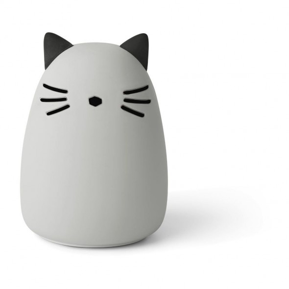 Veilleuse en silicone Winston - Cat (dumbo grey)