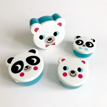Set de 4 boites à goûter - Ours blanc