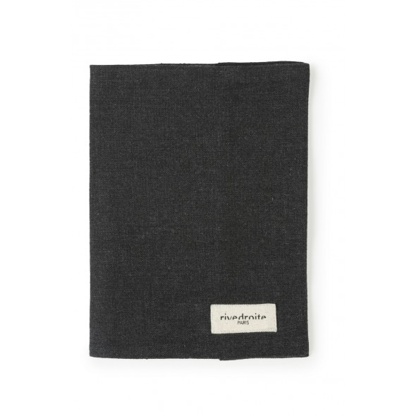 Protège carnet GABIN en coton recyclé - Noir