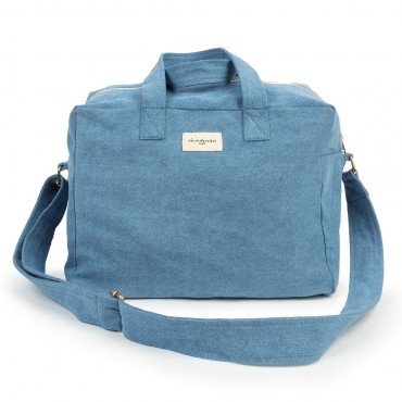 City bag SAUVAL en denim upcyclé - Clair