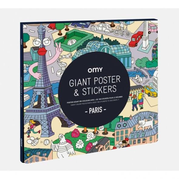 Poster géant & Stickers - Paris