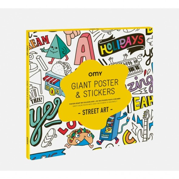 Poster géant & Stickers - Street Art
