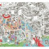 Poster géant à colorier - Crazy Museum