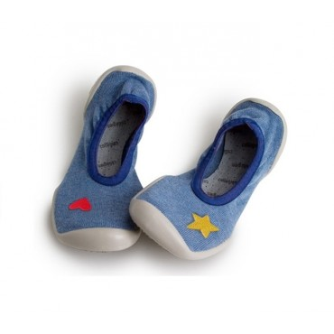 Ballerines - Blue Jean's with Heart and Star