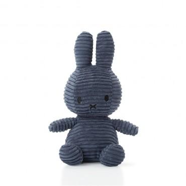 Peluche Miffy - Velours côtelé bleu nuit (24 cm)