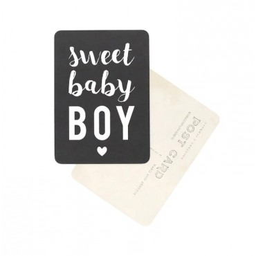 Carte Sweet Baby Boy - Black