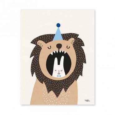 Affiche - Lion & Bunny