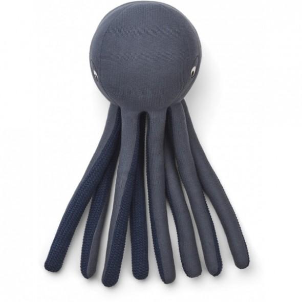 Pieuvre tricotée Helmer - Blue wave