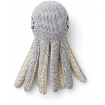 Mini pieuvre tricotée Ole - Grey