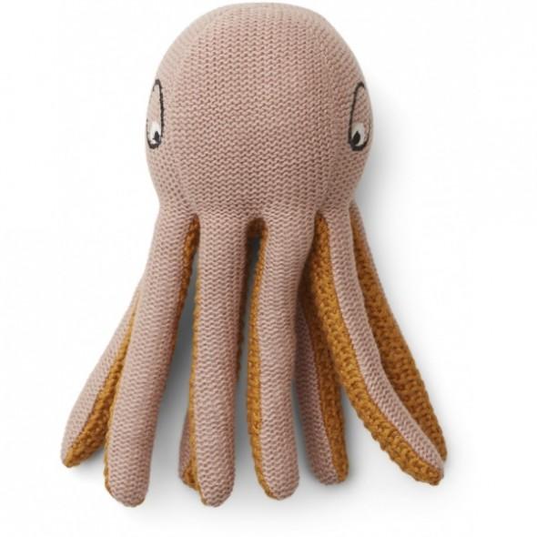 Mini pieuvre tricotée Ole - Rose
