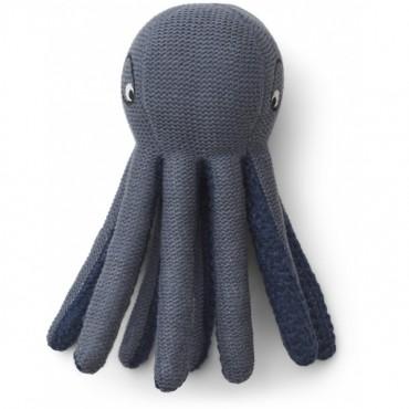 Mini pieuvre tricotée Ole - Blue wave