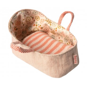 Couffin pour bébé souris (MY) - Rose