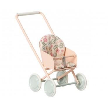 Poussette pour bébé souris (Micro) - Rose