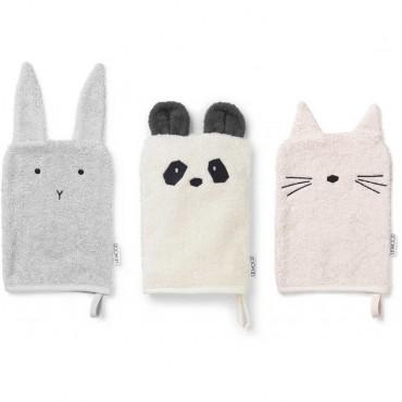 Set de 3 gants de toilette Sylvester - Girlie