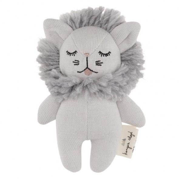 Doudou hochet Lion - Gris