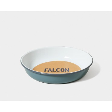 Bol à salade en email - Pigeon grey