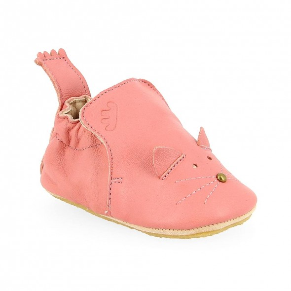 Chaussons Blublu Chat - Rosy