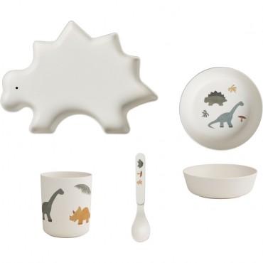 Set de vaisselle en bambou - Dino
