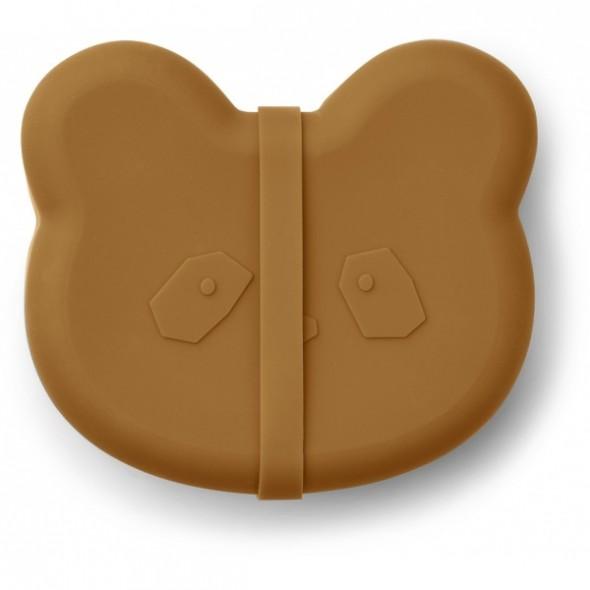 Lunch box Vita en silicone - Panda (moutarde)