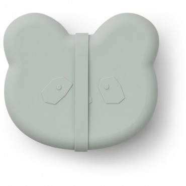 Lunch box Vita en silicone - Panda (dusty mint)