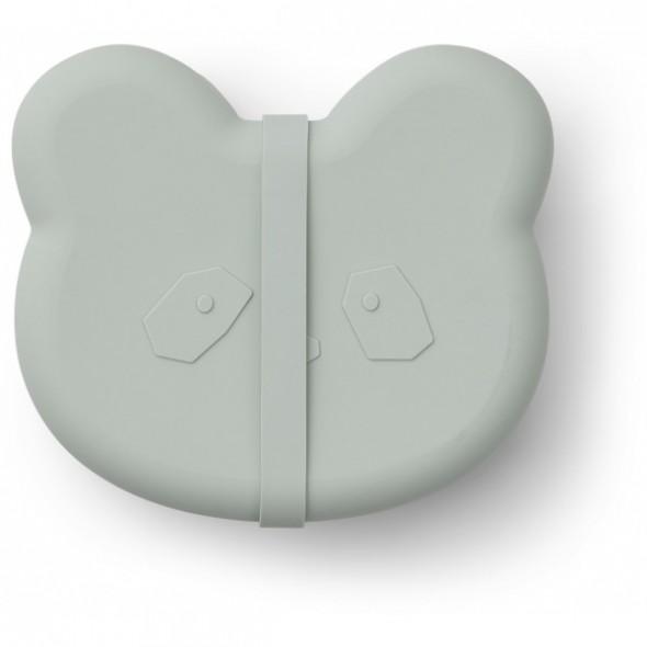 Lunch box Vita en silicone - Panda (dusty mint)