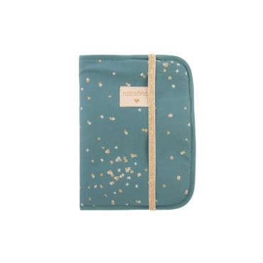 Protège carnet Poema - Confetti magic green