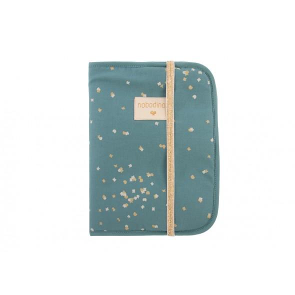 Protège carnet Poema - Confetti magic green