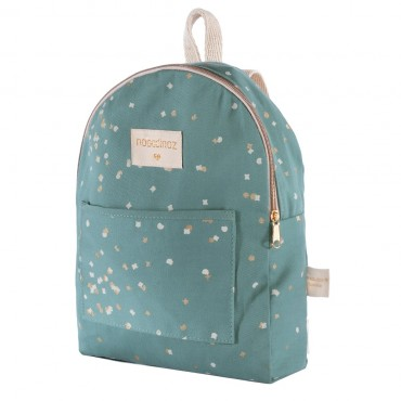 Mini sac à dos Too Cool - Gold confetti / Magic green
