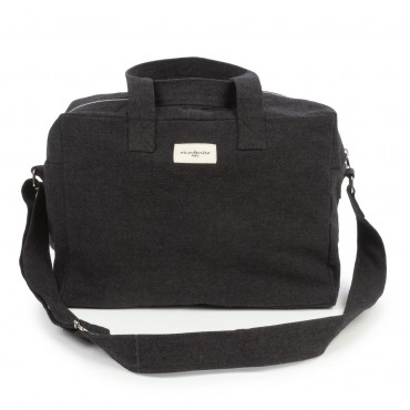 City bag SAUVAL en coton recyclé - Noir