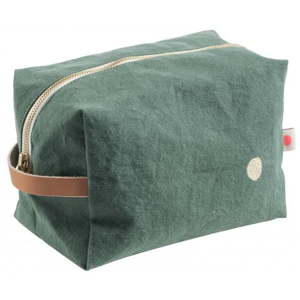 Trousse de toilette cube - Sauge (GM)