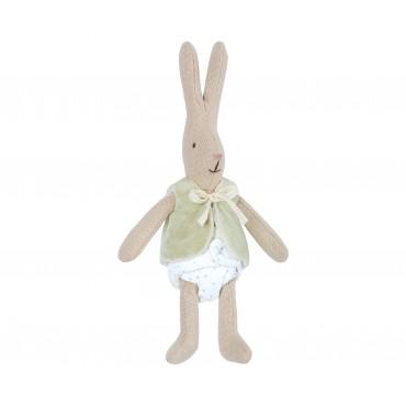Petite poupée lapin - Veste mint (Micro)